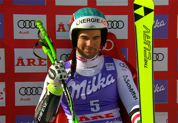 Vincent Kriechmayr gewinn Super-G in Are ....