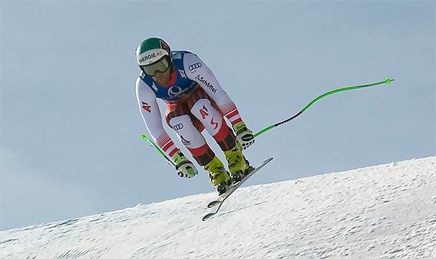Vincent Kriechmayer musste sich in Saalbach mit Platz sechs begnügen