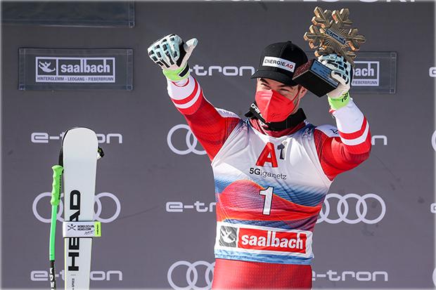 Ski Weltcup Saalbach: Vincent Kriechmayr holt sich den Sieg in der Abfahrt. (Foto: © saalbach.com/ GEPA pictures/Patrick Steiner)