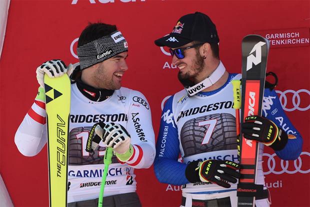 © Ch. Einecke (CEPIX) / Vincent Kriechmayr und Dominik Paris konnten sich gemeinsam über Platz 2 freuen.