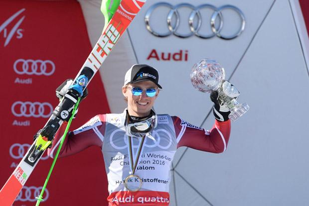 © Ch. Einecke (CEPIX) / Slalomkristall macht Henrik Kristoffersen glücklich