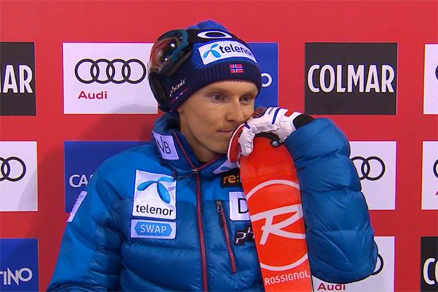 Henrik Kristoffersen führt nach dem 1. Durchgang beim Slalom von Madonna di Campiglio