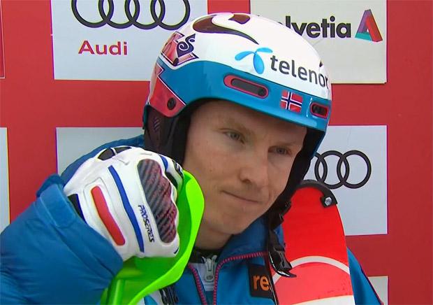 Halbzeitführung für Henrik Kristoffersen beim Slalom in Adelboden