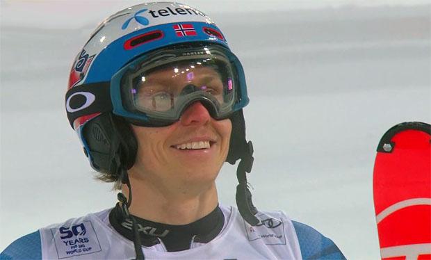 Henrik Kristoffersen hat die Slalom Goldmedaille fest im Blick