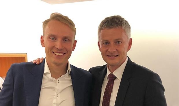 Henrik Kristoffersen und Landsmann Ole Gunnar Solskjær (© Henrik Kristoffersen / instagram)