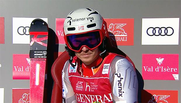 Henrik Kristoffersens zweiter Lauf von Val d'Isère war perfekt