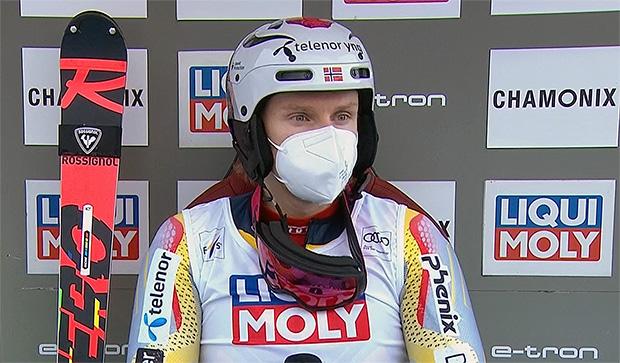 Henrik Kristoffersen liegt beim Slalom in Chamonix am Sonntag, nach dem 1. Durchgang in Führung - Final-Durchgang 12.30 Uhr