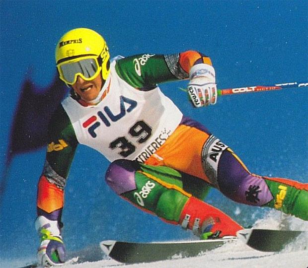 Trauriger Blick in die Chronik: Vor 20 Jahren starb ÖSV-Skirennläufer Richard Kröll (Foto: Atomic Autogrammkarte