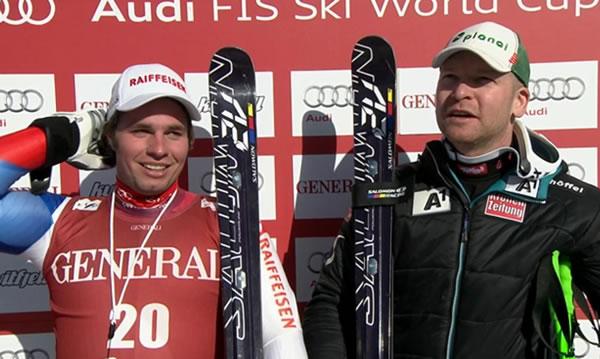 Beat Feuz und Klaus Kröll gewinnen zeitgleich Super G am Freitag in Kvitfjell
