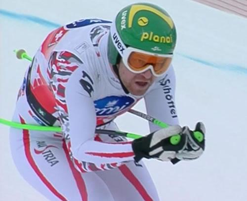 Klaus Kröll Schnellster beim 1. Abfahrtstraining in Kitzbühel