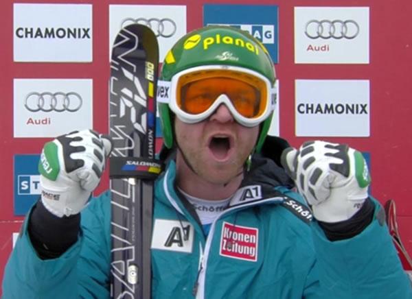 Klaus Kröll gewinnt Freitagabfahrt in Chamonix