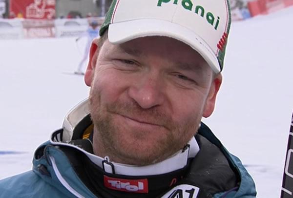 Klaus Kröll beginnt mit Reha Programm.