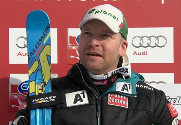 Klaus Kröll feiert in Kvitfjell, auf  der Olympiastrecke von 1994, einen Doppelsieg.
