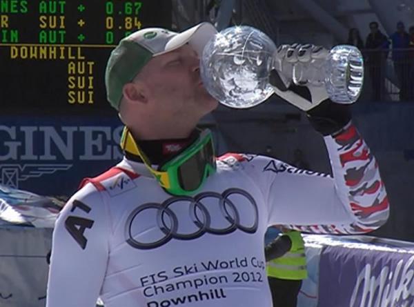 Abfahrtsweltcup Titelverteidiger Klaus Kröll