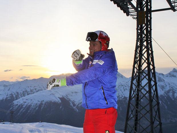 © swiss-ski.ch / Auch Weltmeister Patrick Küng gehört in Sankt Moritz zu den Frühaufstehern.