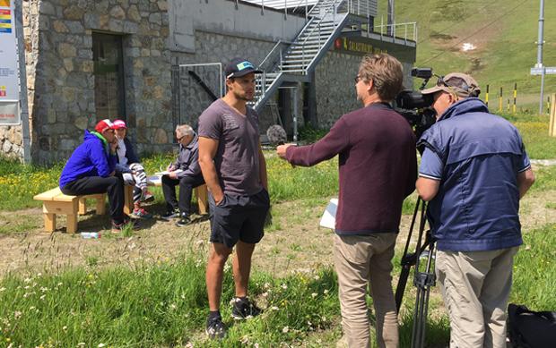 Patrick Küng im Interview (Foto: Ski WM St. Moritz)