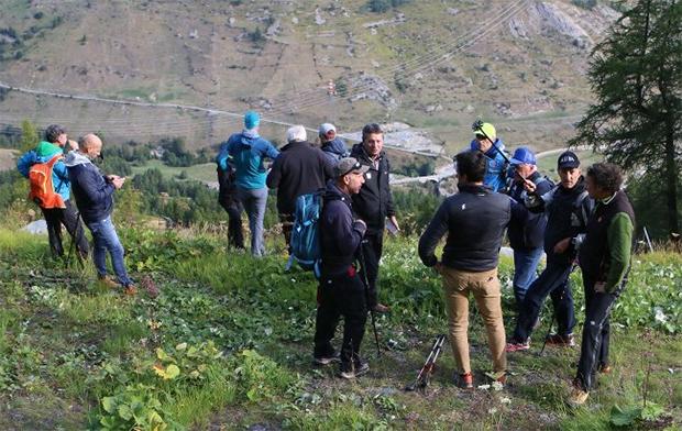 FIS-Delegation um Peter Gerdol auf Stippvisite in La Thuile