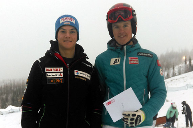 Der 18-jährige Oberösterreicher Maximilian Lahnsteiner (re.) zeigte bei den FIS-Rennen in Gällivare starke Leistungen. (Foto: ÖSV/Prantner)