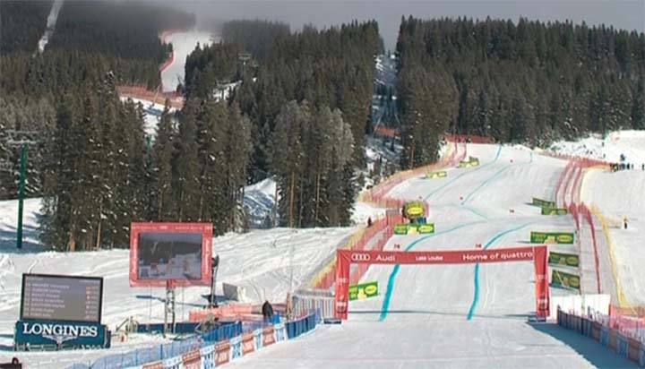 Super G der Damen in Lake Louise