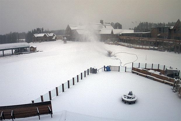 Lake Louise freut sich über Schneefall und kalte Temperaturen