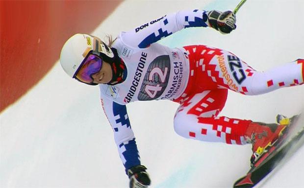 Das Doppelleben der Ester Ledecká - Tschechin rast in Garmisch auf Rang 24