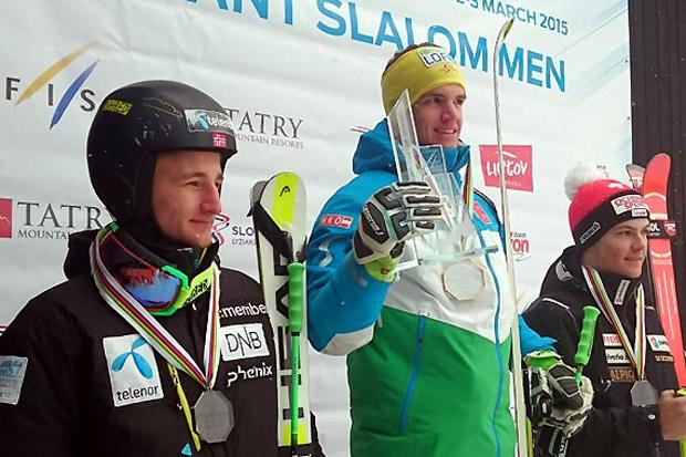 Der Salzburger Roland Leitinger gewann die Riesentorlauf-Europacupwertung vor Rasmus Windingstad (NOR) und dem Schweizer Loic Meillard. (Foto: ÖSV)