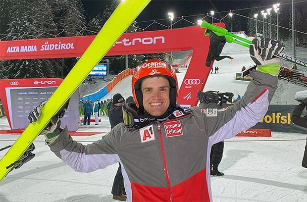 ÖSV News: Roland Leitinger feiert beim Parallel-Riesenslalom von Alta Badia seinen ersten Ski Weltcup Podestplatz (© Foto: ÖSV)