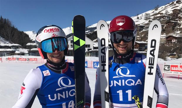 Roland Leitinger und Johannes Strolz teilen sich die ÖM-Riesenslalom-Goldmedaille (Foto: ÖSV)