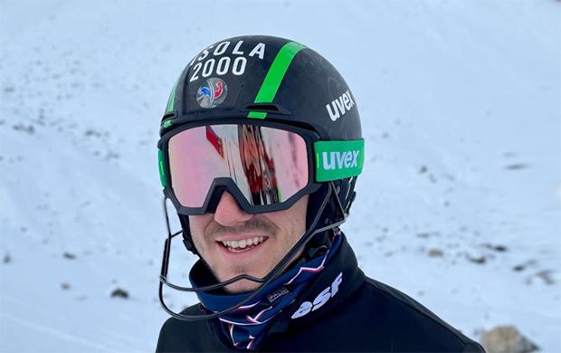 Theo Letitre gewinnt den 2. EC-Slalom im Fassatal (Foto: © Theo Letitre / instagram)
