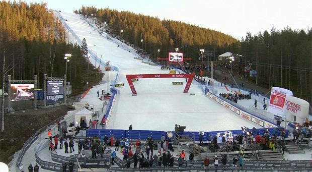 Vorbereitungen für den Ski Weltcup Slalom Auftakt in Levi laufen bereits.