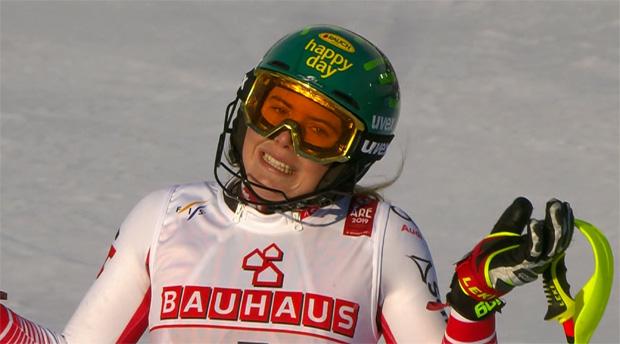 Platz 4 im Slalom von Are: Katharina Liensberger.