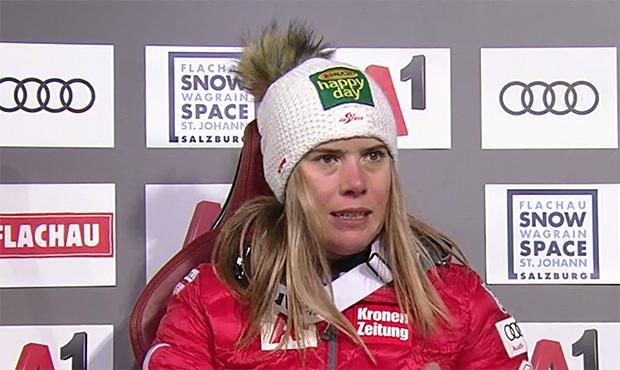 Katharina Liensberger verpasst Sprung auf das Podest
