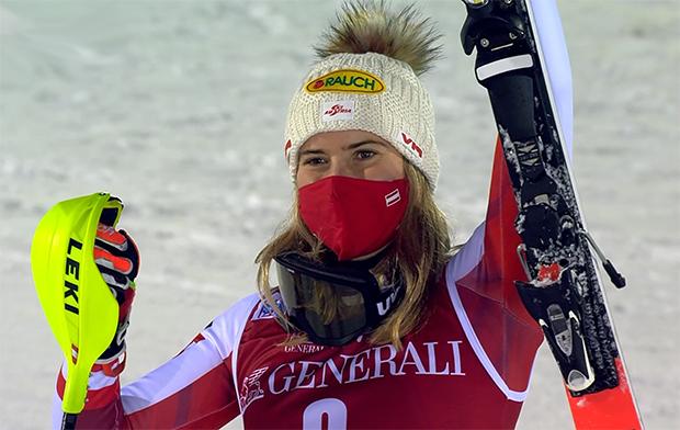 Katharina Liensberger feiert zweiten Podestplatz in Levi