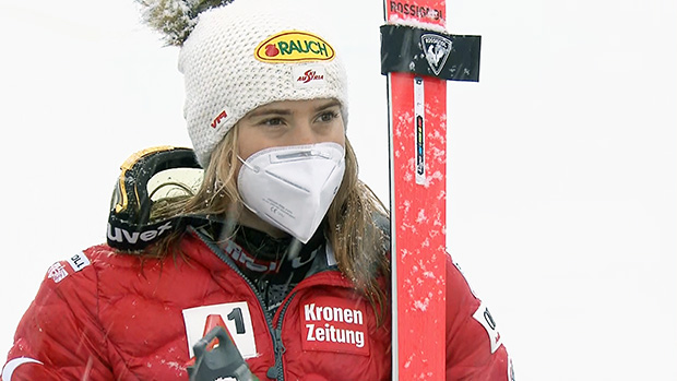 Katharina Liensberger erreichte mit dem sechsten Rang ihr zweitbestes Riesentorlauf-Ergebnis