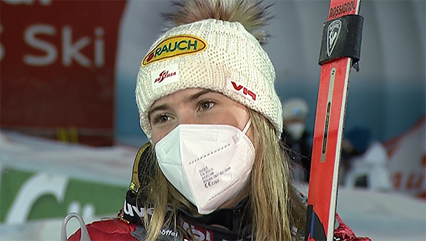 Katharina Liensberger fährt am Semmering auf Rang zwei