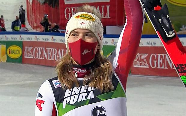 Katharina Liensberger auch in Zagreb auf dem Podest