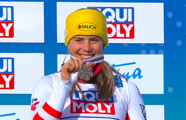 Ski WM 2021: Bronzemedaille für Katharina Liensberger