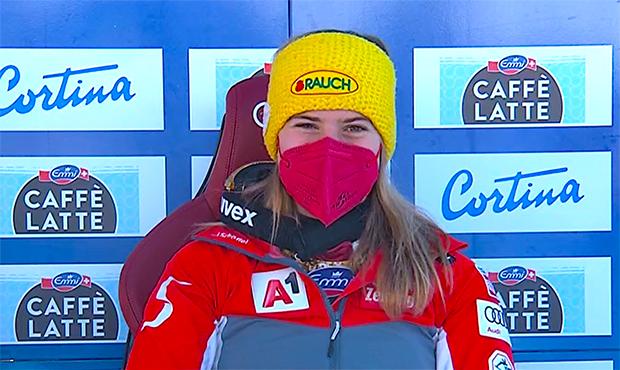 Katharina Liensberger übernimmt Führung beim WM-Slalom in Cortina d'Ampezzo