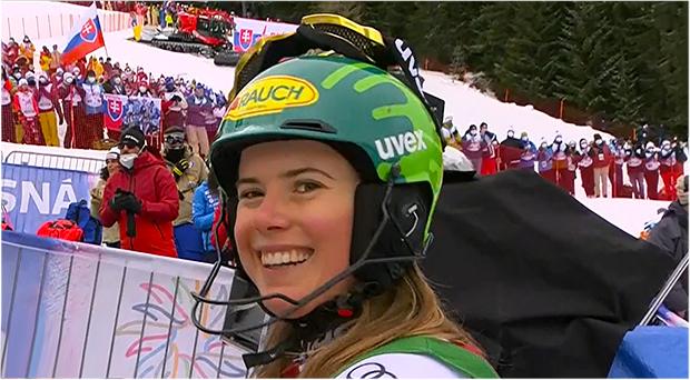 Katharina Liensberger beim Slalom in Jasna knapp am Podest vorbei
