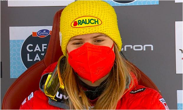 Katharina Liensberger übernimmt Führung beim Slalom der Damen in Lenzerheide