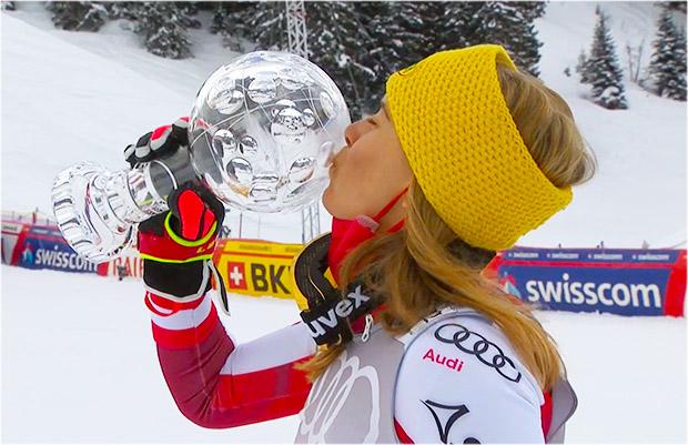Katharina Liensberger gewinnt Slalom von Lenzerheide und holt Slalom-Kristall
