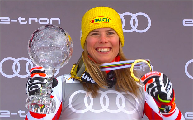 Katharina Liensberger ist Slalomweltcupsiegerin 2020/21