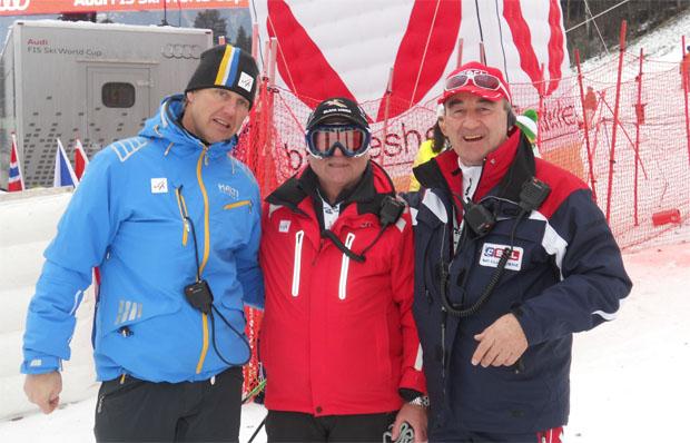 © skiworldcup-lienz.at / v.l.n.r.: Atle Skaardal (FIS), Gorac (FIS) und Siegfried Vergeiner