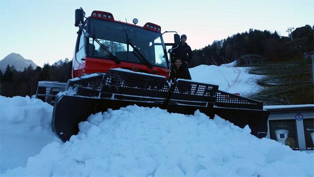 © skiworldcup-lienz.at / Die Pistengeräte sind ab heute unterwegs