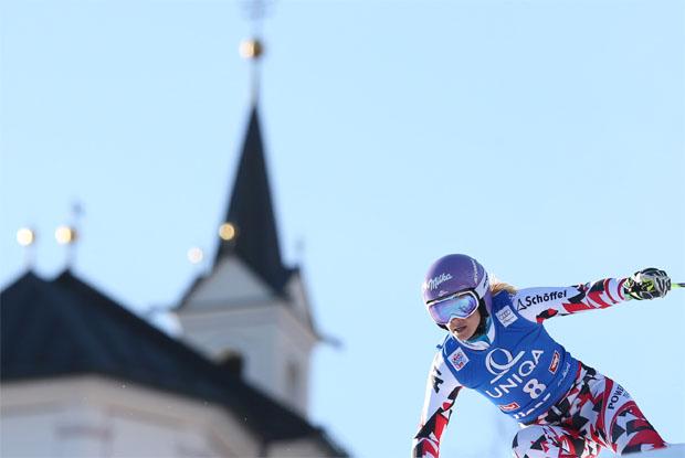 © Kraft Foods / Michaela Kirchgasser will im Slalom auf dem Schlossberg in Lienz überzeugen