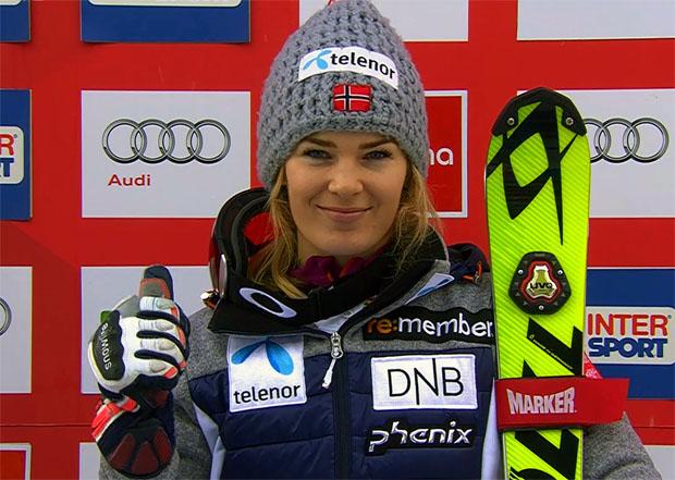 Nina Løseth führt nach erstem Slalomdurchgang in Santa Caterina