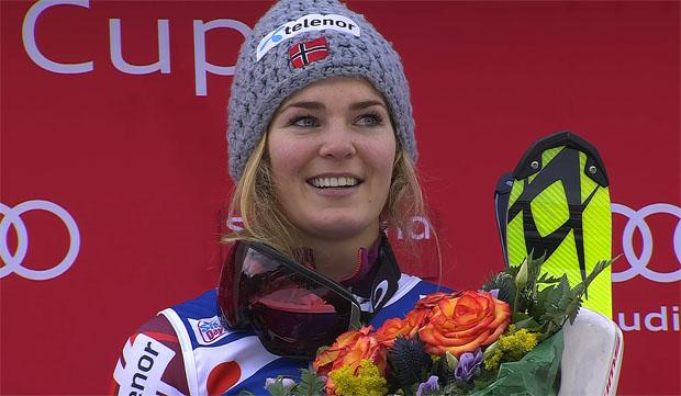Wikingerin Nina Løseth gewinnt Slalom in Santa Caterina klar