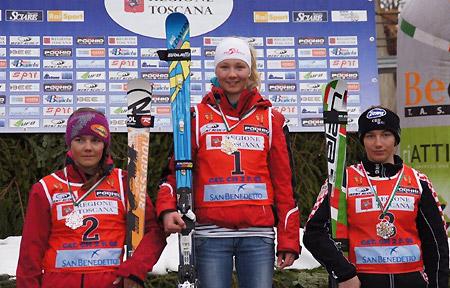 © ÖSV/privat  /  Elisa Mörzinger (OÖ) bei ihrem Sieg im Riesentorlauf