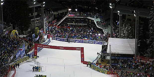 444 Millionen Skifans verfolgten 2015er-Slalom in Madonna di Campiglio