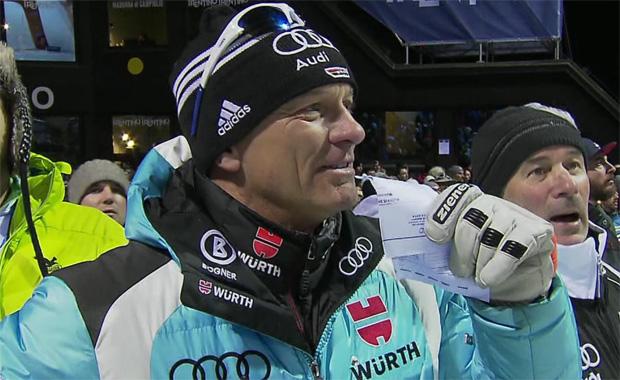 DSV-Alpindirektor Wolfgang Maier freut sich über den Sieg von Felix Neureuther in Madonna di Campiglio